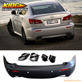 For 06-13 Lexus IS250 IS350 Rear Bumper Conversion IS-F ISF Dual Tip NO PDC Hole USA Domestic Free Shipping