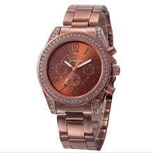 Fashion Ladies Quartz Bracelet Watch Rose Gold Female Wristwatch Luxury Montre Femme Metal Band Women Diamond Watches P40