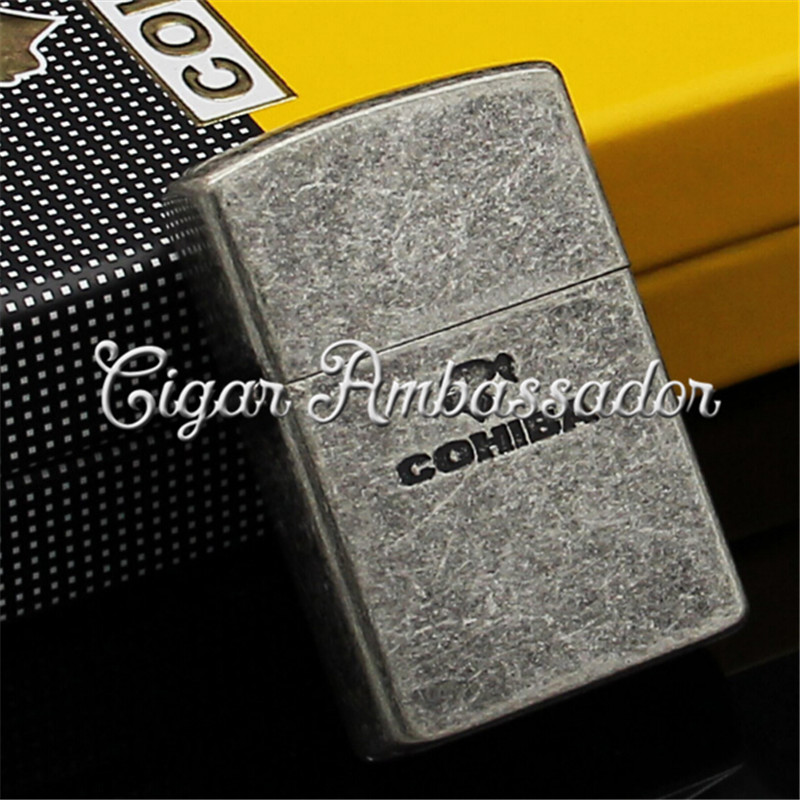 COHIBA Gadgets High Quality Metal Refillable Jet Flame Butane Gas Cigar Lighter...