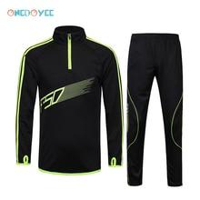 Onedoyee футбольные костюмы, мужской футбольный комплект для детей, Комплект футболок для футбола для мальчиков, тренировочный костюм с длинным рукавом, спортивная одежда для бега
