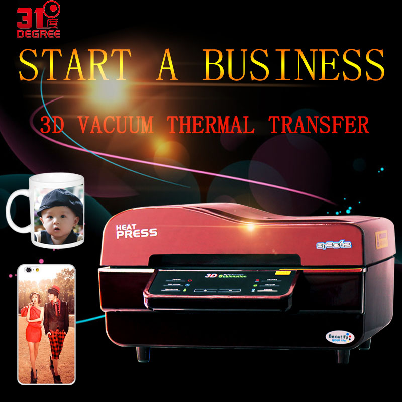 3D Vacuum Heat Transfer Machine Sublimation Press Digital Printers Mug/T Shirt/Cell Phone Case /Cup With Multifunction Printer