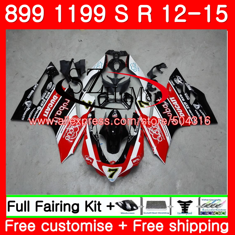 Injection For DUCATI 899 899S 1199R 1199 S 1199 R Panigale 11 94NO. 1199S 12 13 14 15 1199 2012 2013 2014 2015 Fairing Black red