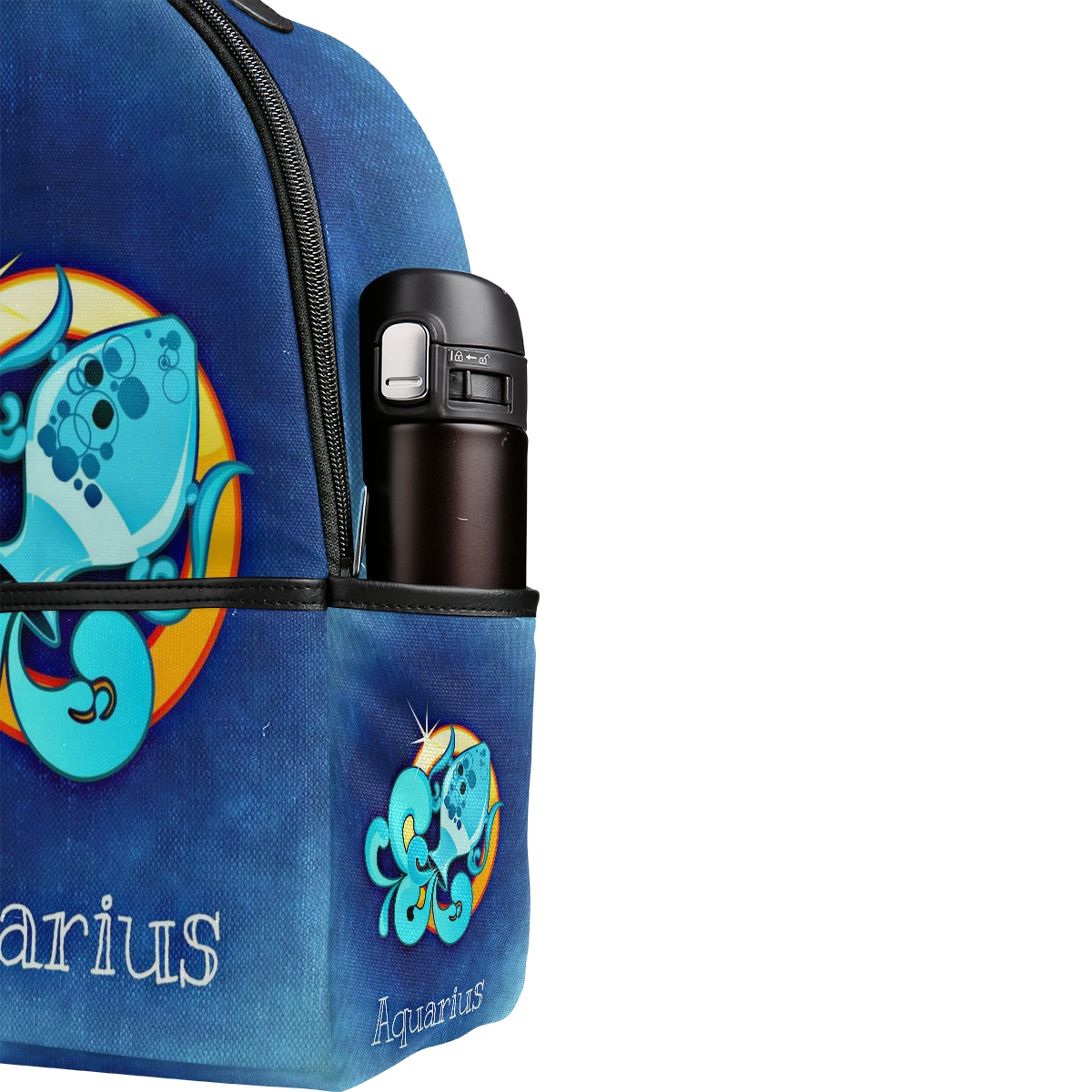 Bags for high school students - Aquarius Funny Printing Canvas Backpack Junior High School Students Schoolbag Laptop Bag Back Pack Girls Boys Gift Mochila In Backpacks From Luggage Bags