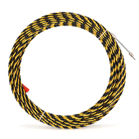 6.5mmx30m Glass Fiber Nylon Cable Electrician Conduit Ducting Cable Push Pullers Duct Snake Rodder Fish Tape Wire