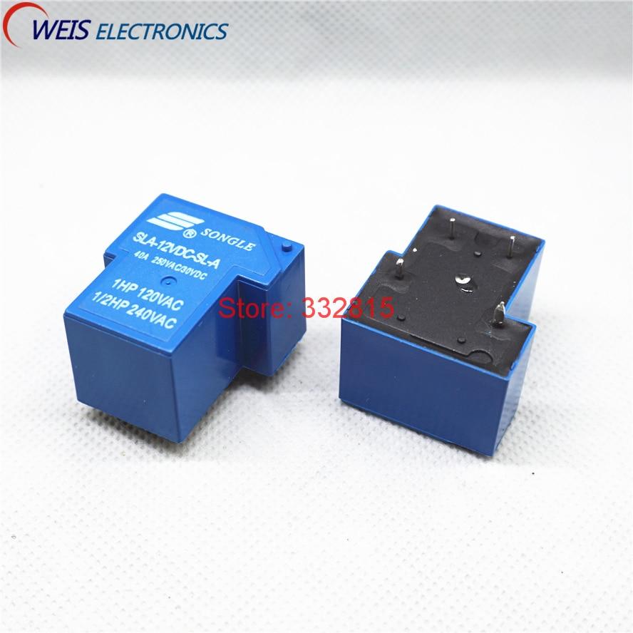 10PCS SLA-12VDC-SL-A SLA-12VDC T90 12V 40A DIP-4PIN SONGLE RELAY  New original Free shipping new original 10pcs sla 12vdc sl a 4pin 30a 250vac t90 12v relays