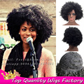 16inch Popular African American big curls wig Kinky Curly None Lace Wigs Yaki wave hairstyle wig Synthetic Super Jumbo Afro Wig