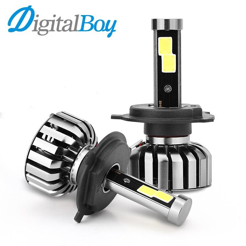 Digitalboy 2Pcs H4 LED Headlight Car Bulbs 80W 8000LM Hi/Lo Beam LED Headlights Headlamp High Low Beam Front Light 6000k
