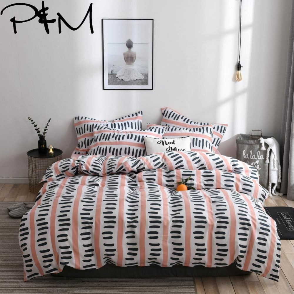 Papa&Mima modern style Pattern print bedding sets Cotton bedlinens Twin Queen King size flat sheet pillowcases duvet cover sets Papa&Mima modern style Pattern print bedding sets Cotton bedlinens Twin Queen King size flat sheet pillowcases duvet cover sets