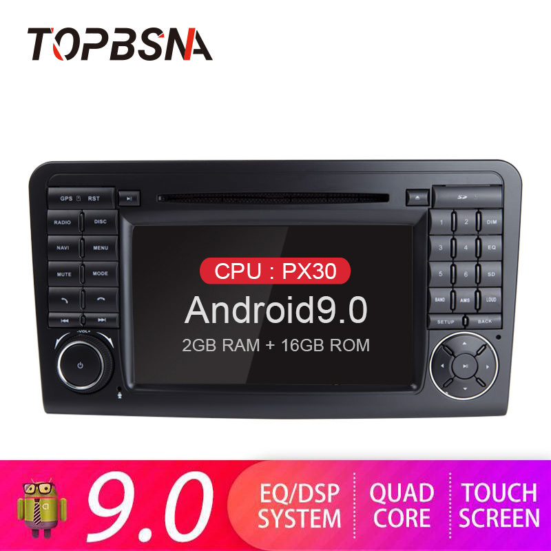 TOPBSNA Androind 9.0 Car DVD Multimedia Player For <font><b>Mercedes</b></font>/Benz/GL ML350 <font><b>ML</b></font>/CLASS W164 GPS Navi 2 Din Car Radio WIFI Audio RDS image