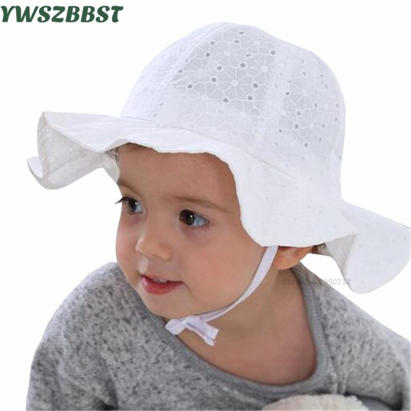 Princezna Baby Girls Sun Hat Baby letní klobouky Bavlna kšiltovka čepice Dětské slunce Cap Dívky Brim Beach Hat Bílé Pink