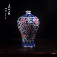 Vase ceramics blue and white porcelain decoration antique vase at home decoration art