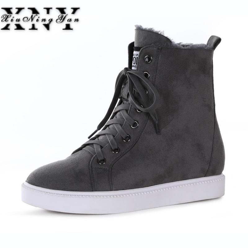 13107df3e9c30 Épais Femmes D hiver 39 De Talons Noir Fourrure Taille Bottes Automne Neige  Chaussures Mode Xiuningyan ...