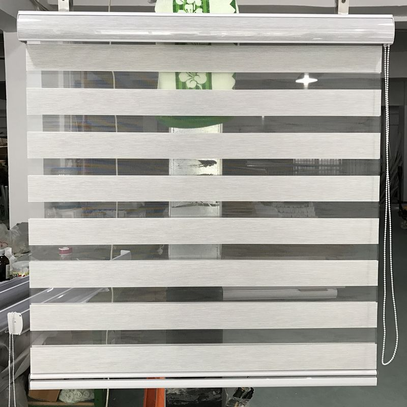 Custom Made Size Zebra Blinds 100 Polyester Translucent Roller Window Curtains for Living Room 14 Colors