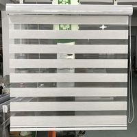Custom Made Size Zebra Blinds 100% Polyester Translucent Roller Window Curtains for Living Room 14 Colors are Availble