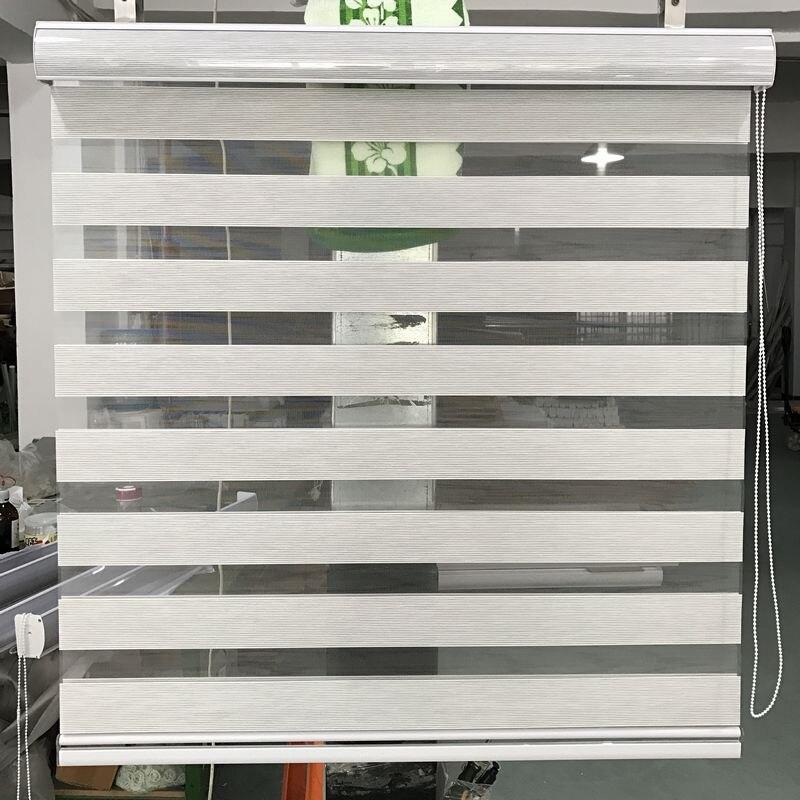 Stores zébrés de taille sur mesure 100% rideaux de fenêtre à rouleau translucide en Polyester pour salon 14 couleurs sont disponibles