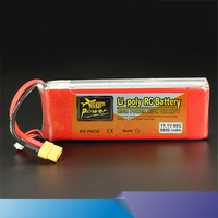 New Arrival ZOP Power 11.1V 5500mAh 3S 60C Lipo Battery XT60 T Plug Rechargeable Lipo Battery RC Battery For RC Helicopter Part