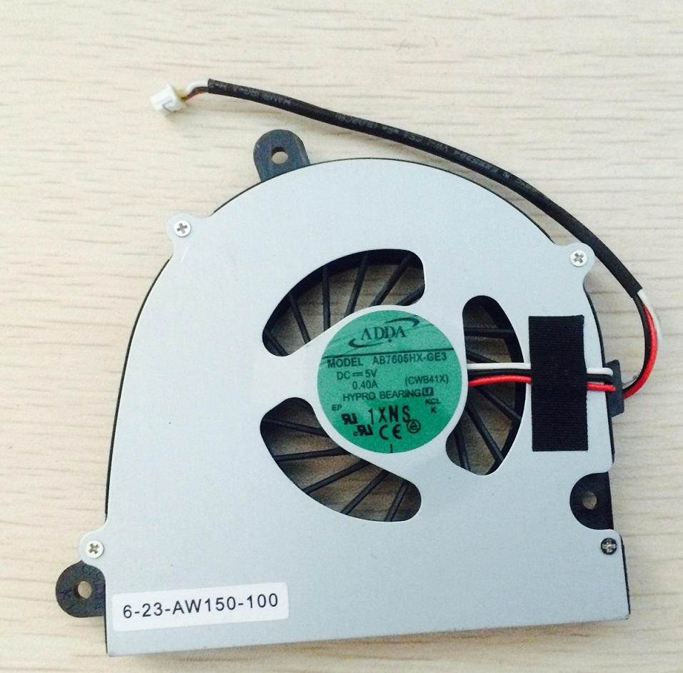 SSEA New laptop CPU Cooling Fan for Clevo W110 <font><b>W110ER</b></font> W150 W150HR W170 FAN cooler P/N AB7605HX-GE3 CWB41x CWB4100 image