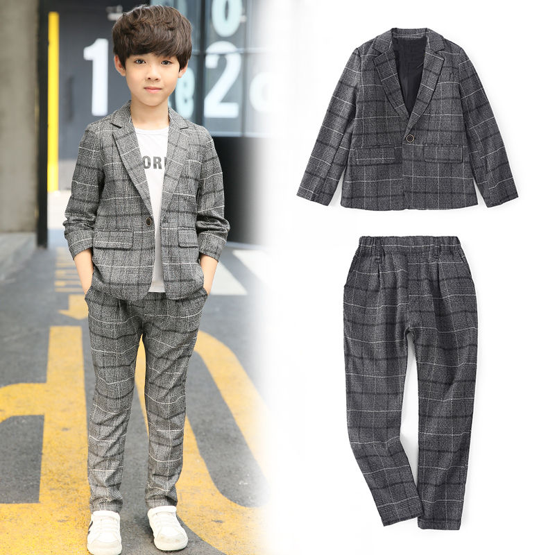 High-Quatity Classic Formal Boys Gentleman Wedding Suit Children Outerwear Clothing Elegant Toddler Outfit Blazers