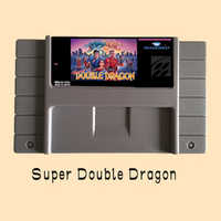 Super Double Dragon 16 bit Big Gray Game Card For USA NTSC Game Player