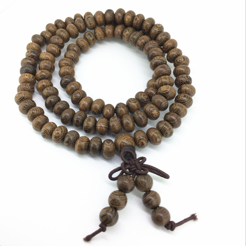 Natural wenge wood suanpan bead 108 bead buddhist prayer for Zen culture jewelry reviews