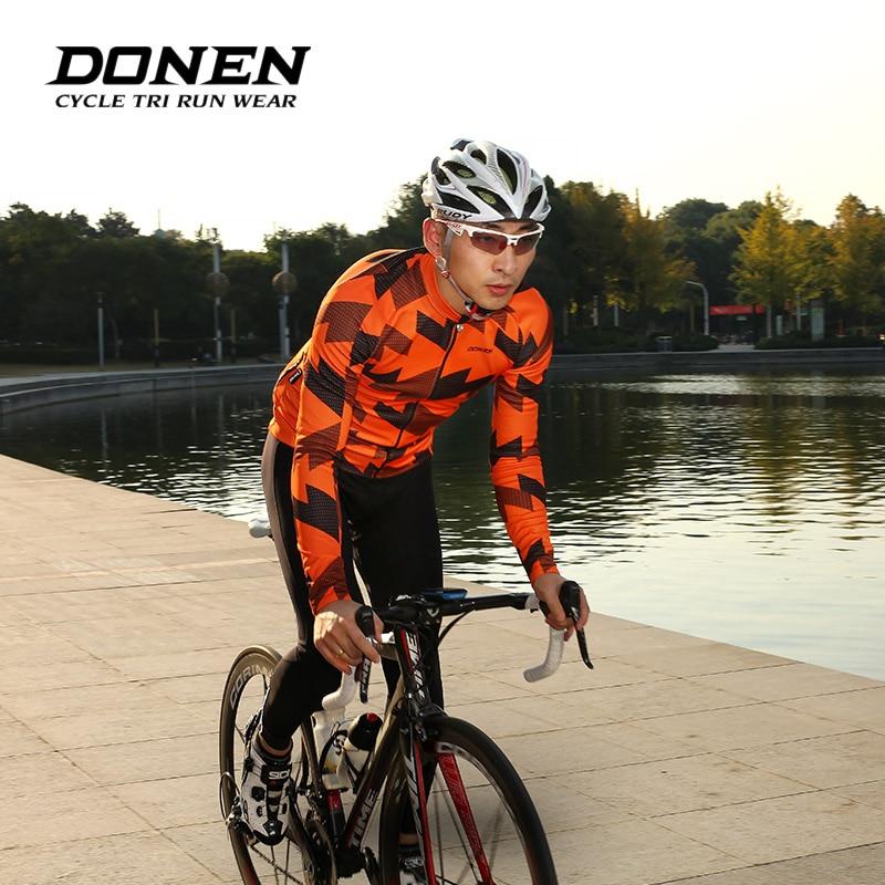 DONEN Autumn Winter Fleece Warm Long sleeves Bicycle Cycling Jackets Man Cycling jersey Jacket MTB Bike