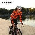 DONEN Otoño Invierno Polar cálido manga larga bicicleta ciclismo chaquetas hombre ciclismo jersey chaqueta MTB bicicleta ropa ciclismo