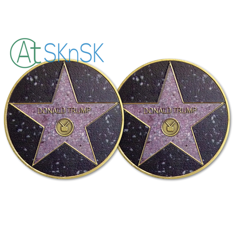 50pcs/lot MAGA <font><b>KAG</b></font> POTUS Trump Presidential U.S. Challenge Coin Hollywood Walk of Fame Star USA Commemorative Coins Collectibles image