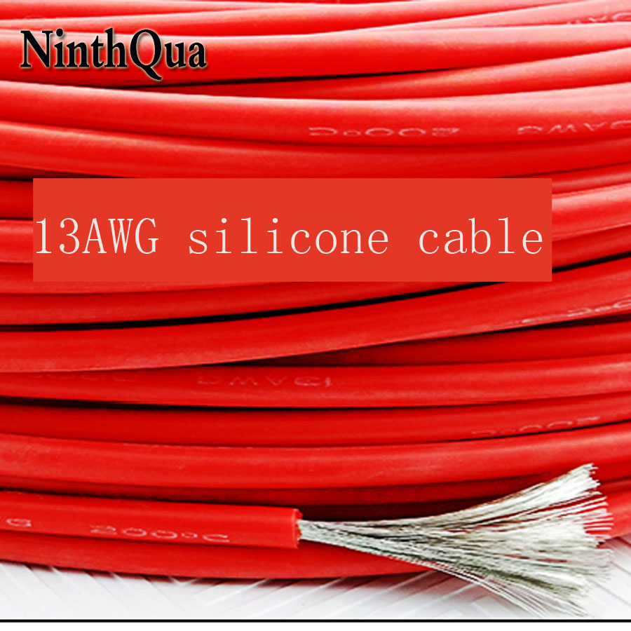 1metre <font><b>13AWG</b></font> <font><b>Silicone</b></font> Wire Ultra Flexiable <font><b>Cable</b></font> 2.5mm2 High Temperature Test Line Wire image