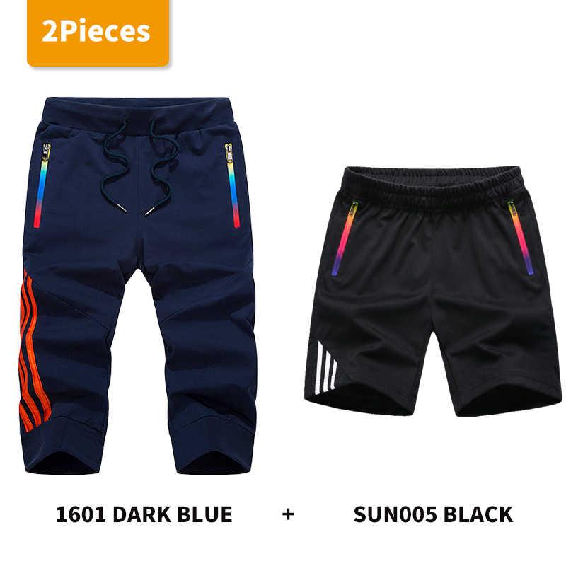 LBL 2 Pza Shorts hombres verano Jogger rayas hombres pantalones cortos ropa deportiva hombre Pantalones cortos transpirables Bermuda Masculina
