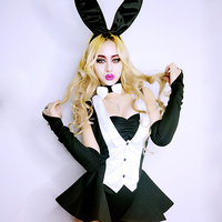 Night bar girl rabbit ds costumes singer clothing uniforms temptation maid outfit jazz piece costumes