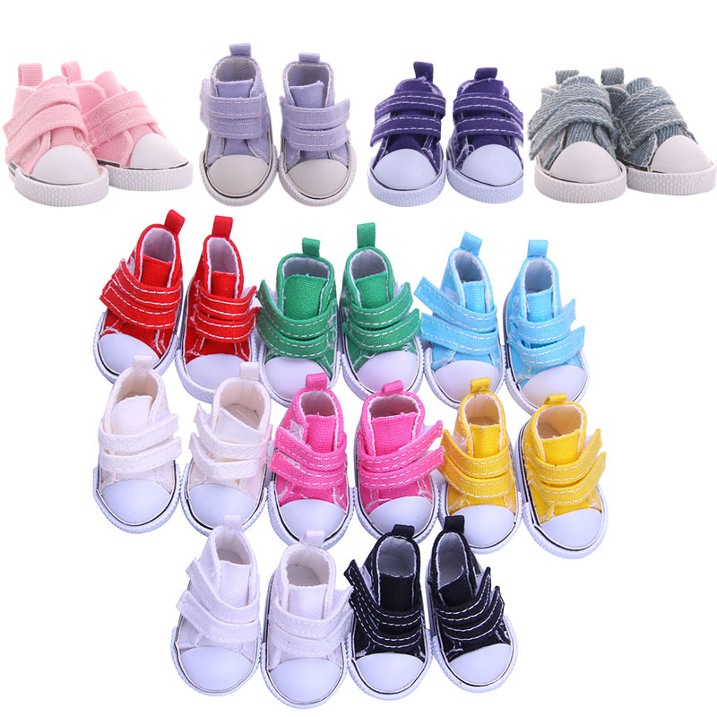 Hot Sales Doll Shoes 11 Colors Pair 5 CM Canvas Shoes For BJD Blyth Mini Doll Shoes For Sharon Doll Generation Accessories