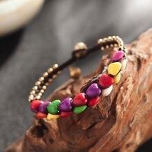 Женский двухслойный браслет amourjoux разноцветный с керамическим
