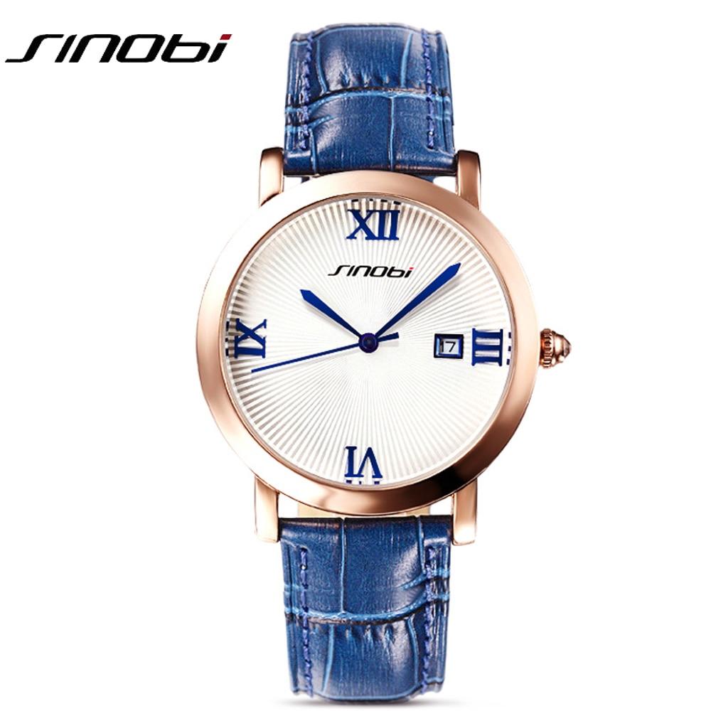 Sinobi Street Style unisex Relojes de cuarzo banda de cuero de las mujeres Top marca de lujo mujer reloj Japón reloj mujeres señoras 2017