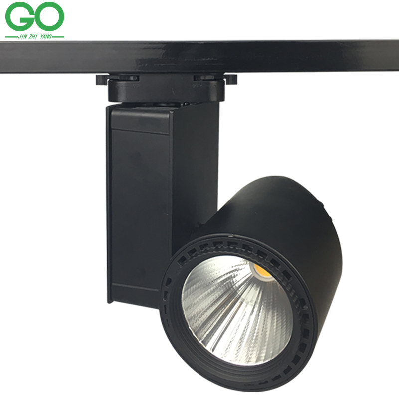 ФОТО LED Track Lights 30W Dimmable COB Rail Light 130-140lm/W Spotlight Clothes Shoes Store Shop Home shopping mall Indoor Lighting