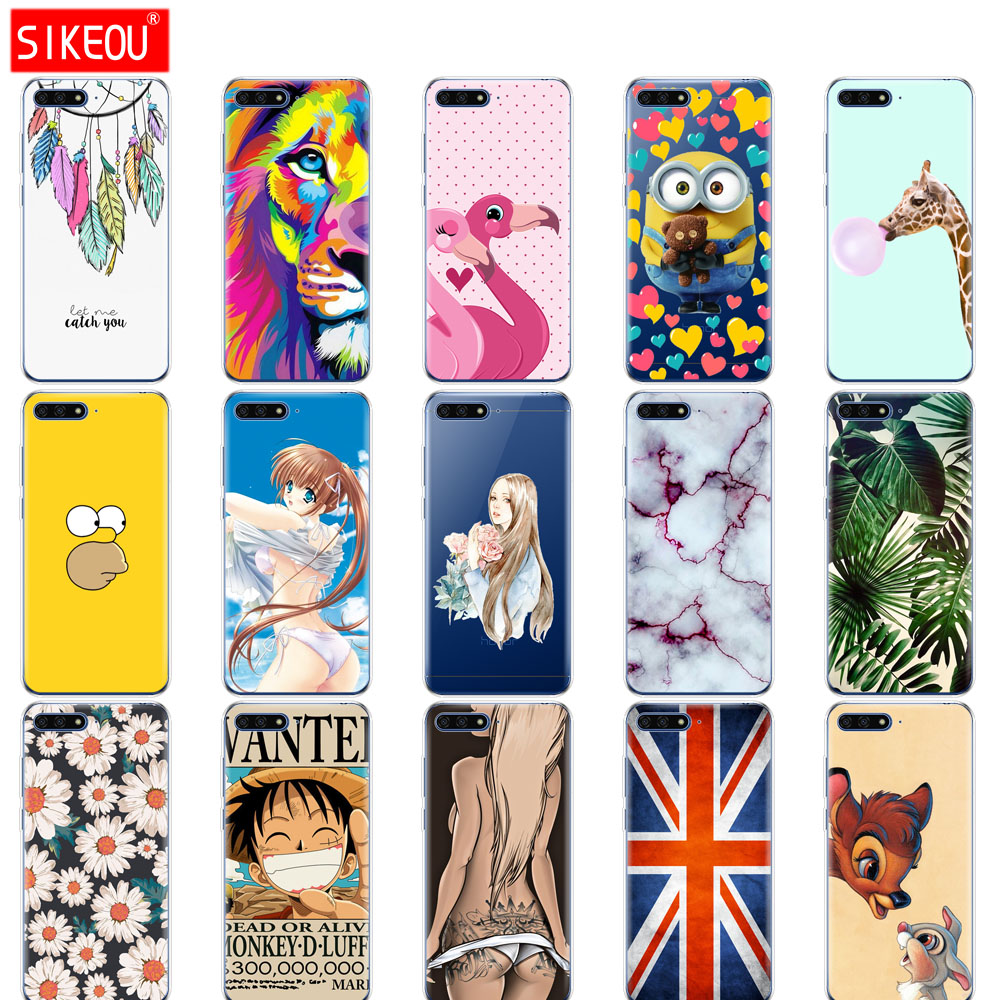 silicone <font><b>case</b></font> for <font><b>huawei</b></font> <font><b>Y6</b></font> <font><b>2018</b></font> <font><b>case</b></font> <font><b>cover</b></font> for <font><b>huawei</b></font> Y 6 <font><b>2018</b></font> <font><b>case</b></font> back <font><b>cover</b></font> full 360 protective soft tpu pink leaves image