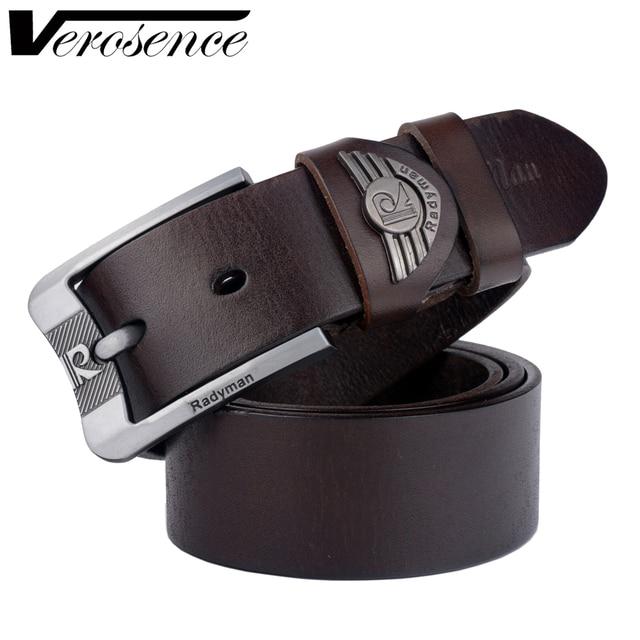 [TG] 2016 Pantalones Vaqueros Para Hombre de La Correa de Cuero de Vaca de La Manera 100% de Alta Calidad de Cuero Genuino Marca Skiny Cinturones para Hombres Cintos