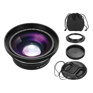 Image 5 - 30mm 37mm 0.39X Lens Full HD geniş açı makro Lens için Ordro Andoer dijital Video kamera kamera