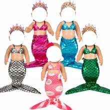 new born baby Doll clothes for 18 inch doll Mermaid dress girl skirt