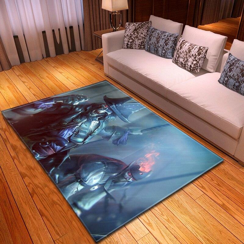 3D personnalité crâne imprimé tapis salon literie grand Rectangle zone tapis moderne en plein air tapis décor à la maison R626