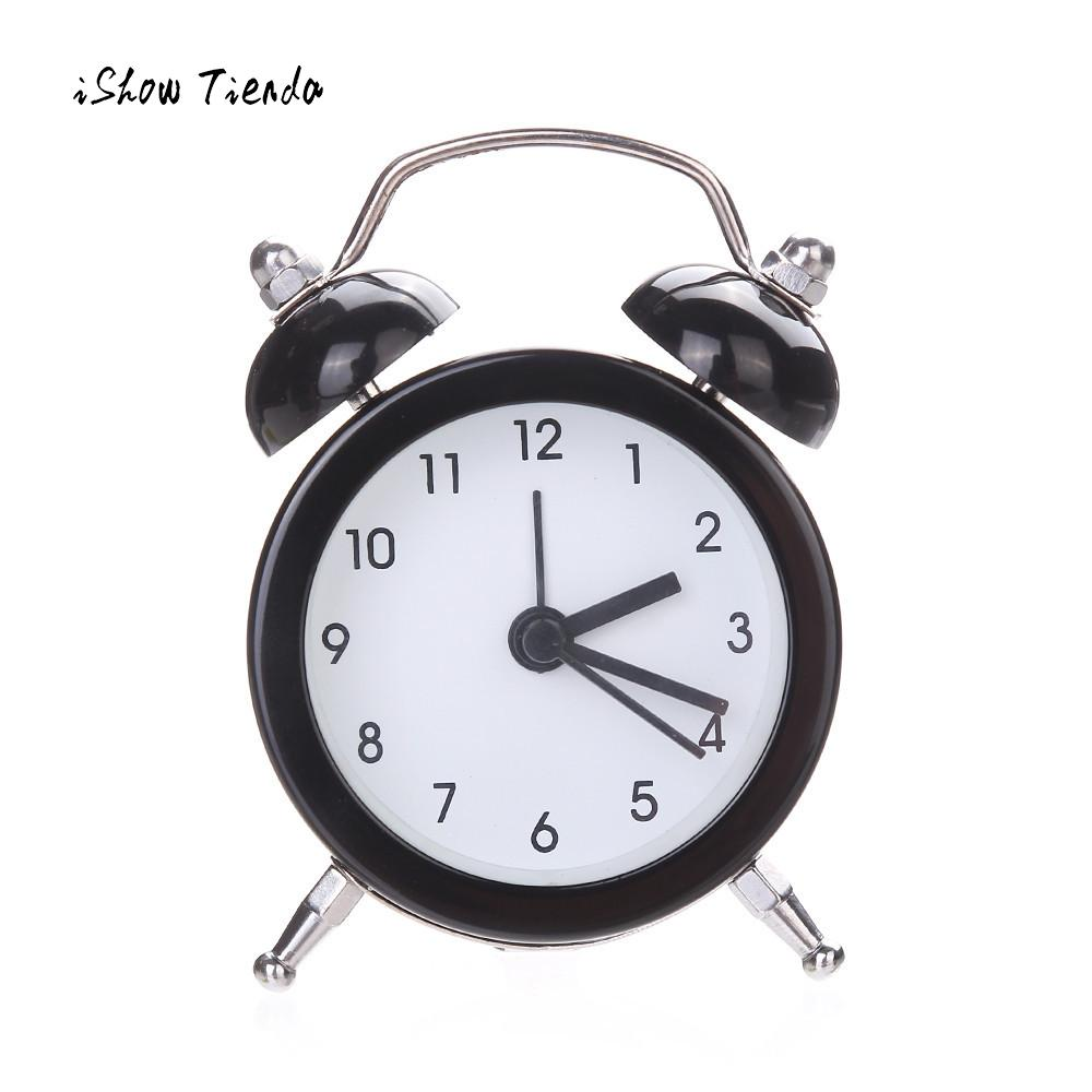 2018 New Fashoin Clock Twin Bell Silent Alloy Stainless Metal Alarm Clock Super Loud Alarm Sound For Heavy Sleepers Desk Clock|metal alarm clock|alarm clockalarm clock sound - AliExpress