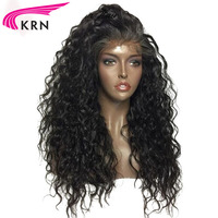 KRN Curly Glueless 360 Lace Front Wig With Baby Hair 10 22 Inch Remy Hair Pre Plucked Brazilian Human Hair Wigs Natural Hairline