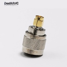 1pc  UHF  male PL259 switch  SMA male plug  RF Coax Adapter convertor Straight  Nickelplated  NEW wholesale