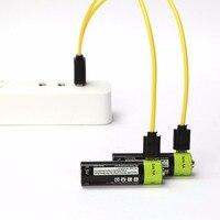 ZNTER Universele AA 1.5 V 1250 mAh USB Oplaadbare Lithium-polymeer Batterij Opgeladen door Micro Usb-kabel