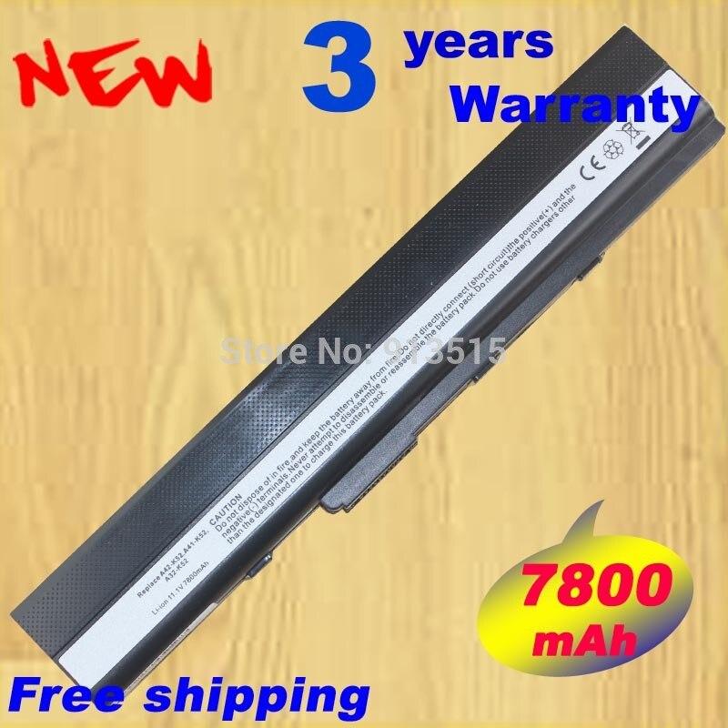 7800mAh Laptop battery for K52 K52D K52DE K52DR K52F K52J K52JB K52JC K52JE K52JK K52JR K52N K62 K62F K62J K62JR