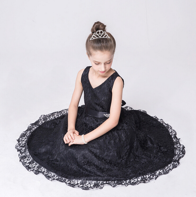 Flower Girl Dresses Bridesmaid Pageant Birthday Wedding Party Formal Graduation Lace Ball Gown Dress