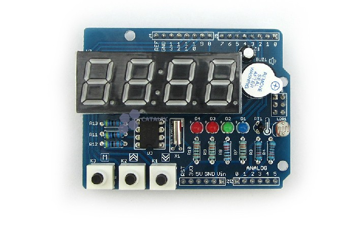 Expansion board digital tube Clock module with thermal Clock shields expansion module elc md204l text panel