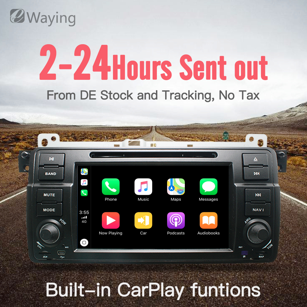 Ewaying Quad-Core Android 7.1 2g + 16g Built-In carplay IPS dello schermo di Lettore DVD Dell'automobile Per BMW /E46/M3/MG/ZT GPS di Navigazione Radio FM