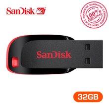 Оригинальный SanDisk usb флэш-накопитель Cruzer blade U диска CZ50 32 ГБ ручка накопители USB 2.0 Memory Stick SDCZ50