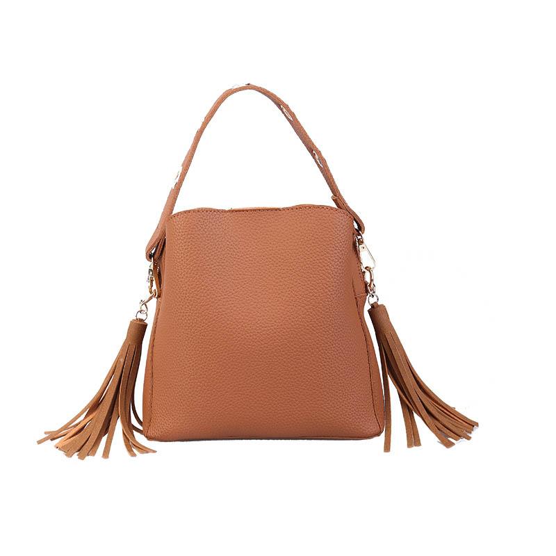 MARFUNY Brand Tassel Shoulder Bags Handbags Women Scrub Daily Bag For Girls Schoolbag Female Crossbody Bags New Bucket Sac 1