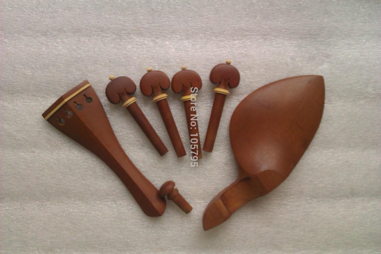 4 대추 바이올린 피팅 테일 피스 턱 레그 페그와 엔드 핀 4/4 바이올린 파트 세트